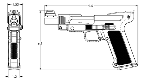 DL45 side view measurements diagram
