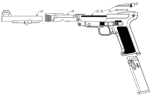 DL45 slide mechanism diagram
